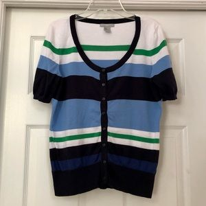 H&M Button-Up Short Sleeve Soft Knit Cardigan Top